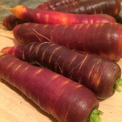 Carrots from the garden.
