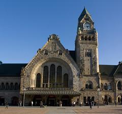 Metz - Gare de Metz-Ville (grotevriendelijkereus) Tags: city france de gare centre center lorraine allemagne ville chemin metz vieux fer moselle