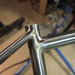 29er seat tube cluster. #weavercycleworks #custombicycles #brazing #stealisreal