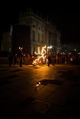 La Piazza infuocata (laura.schepis) Tags: street night canon torino fire tokina piemonte piazza palazzo turin castello piedmont fuoco notturno 1116 madama 1100d
