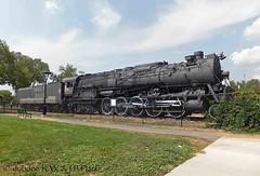 17-08-12 Atchison, Topeka & Santa Fe Railroad 2-10-4 5030  Salvador Perez Park, Santa Fe, NM (dubdee) Tags: santafe baldwin atsf 2104 5030 atchisontopekaampsantaferailway