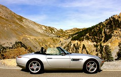 BMW Z8 Alps (Rev426) Tags: world road street uk trip 2002 red orange usa cloud white holiday france mountains alps sports car yellow museum silver lunch grey mercedes drive hotel evening town photo vineyard spain nikon stream europe tour sebastian secret convertible super ferrari 1999 monaco exotic mclaren villa summit bmw bond service spotted dashboard lamborghini enough v8 lfa pyrenees v10 007 mp4 amg noble lexus maranello f430 d800 v12 z8 fmp m600 laferrari aventador mp412c v354 sb910 v354fmp