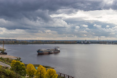 The sky and water (memfisnet) Tags: travel nature clouds canon river boat russia 600d gorodets