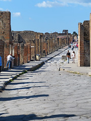 P1050448 Looking along one of the main streets of Pompeii. PS  (peteshep) Tags: italy mainstreet campania ps pompeii vesuvius pompei 2014 watersupply decumanus peteshep copyrightphoto fz200 cyclopianpaving