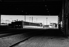 Darkness (themozzarella) Tags: cold monochrome finland dark person cool helsinki noir loneliness darkness streetphotography tunnel wicked lonely melancholy blackandwhitephotography nikond60