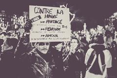 Contre la haine (A.Fauth) Tags: people blackandwhite paris freedom flag protest 11 charlie together libert ensemble janvier marche manifestation reportage paix republique marcherepublicaine jesuischarlie