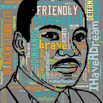 Martin Luther King Jr Word Cloud, From FlickrPhotos