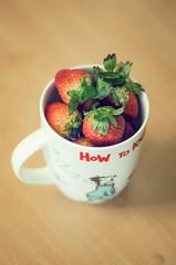 How to kick start your day :D (Sourabh_Bhati) Tags: morning india 50mm nikon delhi strawberries naturallight mug d5100