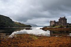 Eilean Donan Castle, Scotland (crafty1tutu (Ann)) Tags: travel holiday reflection castle water clouds reflections landscape scotland highlands unitedkingdom outdoor hills loch dornie 2015 eileandonancastle anncameron crafty1tutu canon7dmkii canon1735lserieslens