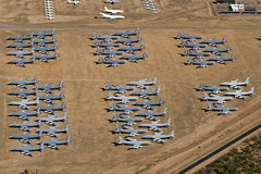 Area 18 - Aerospace Maintenance and Regeneration Group (AMARG) - Davis-Monthan AFB, AZ (David Skeggs) Tags: tucson aircraft military aeroplane usaf boneyard usairforce davismonthan amarc overflight masdc amarg davidskeggs