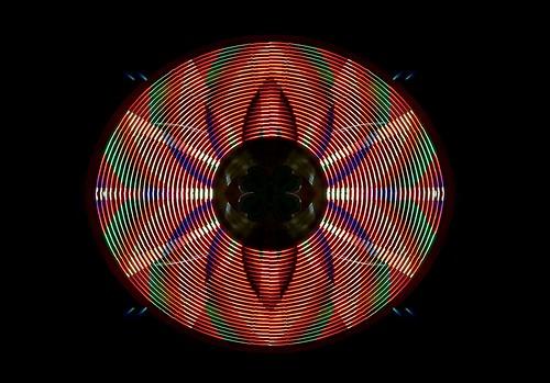 Pétalos de luz polícroma.