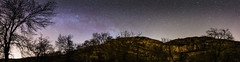 DSC_0482 Panorama (oldkentucky85) Tags: trees england sky panorama rock night dark stars amazing cove yorkshire formation astrophotography malham milkyway