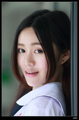nEO_IMG_DP1U3842 (c0466art) Tags: school light portrait cute girl beautiful face canon naughty high nice eyes uniform pretty action outdoor quality young taiwan figure lovely pure 1dx c0466art