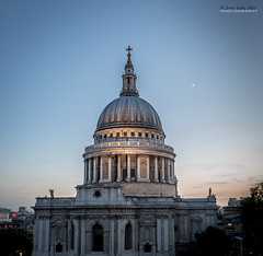 St Paul's at dusk (jerry_lake) Tags: london dusk stpaulscathedral londoncity lightroom57 21stmay2015
