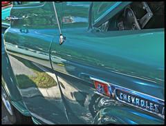 Deland 2016 #13: Green Chevy Pickup (hamsiksa) Tags: green cars chevrolet detroit vehicles transportation trucks hotrods customs pickups generalmotors restorations