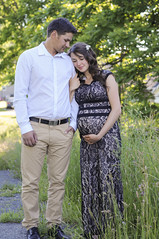 (irina_kra) Tags: life family light boy baby sun green love beautiful smile field grass couple married dress naturallight belly maternity teddybear sunflare 50mm18 flowercrown momtobe nikond300