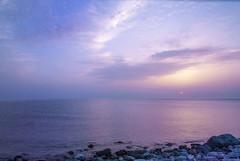 (christie_fey) Tags: sea sky beach beautiful clouds sunrise landscape seaside view pastel pale harmonic