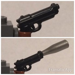 Comparing M9s (Mike-1911) Tags: lego m9 walkingdead brickarms eclipsegrafx