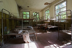 60 - Chernobyl Kindergarten (Craig Hannah) Tags: children doll beds decay ukraine disaster disused kindergarten 1986 derelict restricted zone chernobyl 2016 exclusionzone restrictedzone hazardousarea zoneofalienation 30kilometrezone radioactivecontamination craighannah