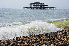 Old West Pier (Patrick Dirden) Tags: westpier brightonwestpier pier ruin ruins abandoned old steel skeleton water sea ocean tide maritime pebbles beach shore shoreline brightonbeach channel englishchannel brighton eastsussex unitedkingdom greatbritain england europe