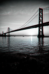 Mornings on the Bay (Thomas Hawk) Tags: sanfrancisco california bridge usa sunrise unitedstates fav50 unitedstatesofamerica baybridge fav10 fav25