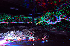 Light Writing Abandoned China Factory (jna.rose) Tags: china longexposure nightphotography blue red lightpainting green abandoned colors night dark colorful factory urbandecay cups nighttime urbanexploration slowshutter teacups teacup abandonedfactory