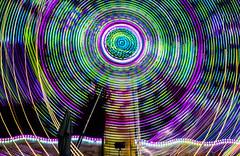 hypnotic to teenage stoners (pbo31) Tags: california summer motion color green june night dark nikon ride purple spin fair spinning butler bayarea target rides eastbay midway pleasanton amusements grounds alamedacounty hypnotic teenage stoners 2016 lightstream boury pbo31 d810