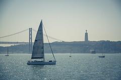 Belem, Lisbonne... (Gilderic Photography) Tags: lisbon lisbonne lisboa portugal tage belem sailing voile bateau pont bridge canon 500d gilderic
