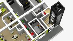 Motorgerte Fachhndler (Power Equipment Dealer) 1.0 06 (-Nightfall-) Tags: lego elevator modular moc powerequipment modularbuilding