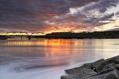 Coucher de soleil sur la riviere Saguenay du 14-06-2016 (gaudreaultnormand) Tags: longexposure sunset canada river quebec fjord saguenay coucherdesoleil chicoutimi leefilter riviere