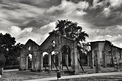 Temple... (henryark) Tags: trees windows sky blackandwhite italy building monochrome clouds nikon iron industrial factory bricks arches monotone bow tuscany d750 restoration renovation furnace archeology emphasis enrico pontedera nannini brickfurnace henryark