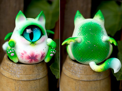 Sakura Baby Cyclops Dragon Kitty (RikkiStar) Tags: ball cherry doll dragon blossom kitty cyclops sakura bjd jointed fingertipdreamlandbjd