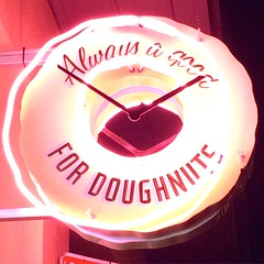 Always a good time for doughnuts (tseenster) Tags: light sign night dark neon nighttime donuts snack donut doughnut signage doughnuts snacking