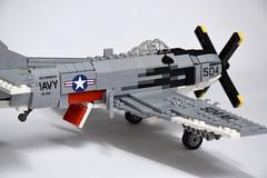 Douglas AD-6 Skyraider (5) (Dornbi) Tags: lego douglas ad6 a1h skyraider spad korea vietnam navy us