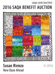New Daze Ahead by Susan Rienzo (saqaart) Tags: artquilts saqa fiberart quilts textiles artwork stitched layered