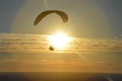 DSC_1658 (JustineChrl) Tags: sunset coucher de soleil auvergne france puydedome volcan montagne nature landscape paysage colors orange red blue sky clouds sun parapente parasailing nikon nikond3200 out