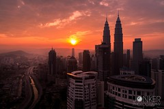 Goodmorning Kuala Lumpur (melvinjonker) Tags: placestovisit beautiful composition ngc wanderlust travelling travel landscapephotography nature morning sony petronastowers petronas building asia malaysia cityscape view cityview city landscape kualalumpur skylovers sky red colorful colours sunrise sun