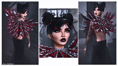 SWANK October 01: Now All You're Seeing Is Blood Red (Hanna Luna Naimarc: MVD♛ 2016 & MVW♛ Chile 20) Tags: gift hunt swank event byrne goth halloween october scary spook vampire haute sexy black red blood bloodred themaine lyrics free