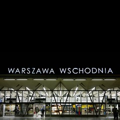 warsaw east station (kozdro) Tags: warsaw poland trainstation wschodnia neon typo