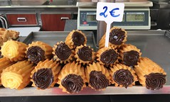 """Churros con chocolate y vainilla  Mallorca. Spain. Oct 2016 • <a style=""""font-size:0.8em;"""" href=""""http://www.flickr.com/photos/147943715@N05/29657162214/"""" target=""""_blank"""">View on Flickr</a>"""