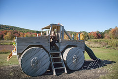 Get in, I'm driving this time. (grilljam) Tags: seamus 4yrs rickerhillorchard farm autumn october2016 tractorplay