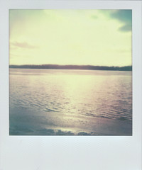 Ripples (H o l l y.) Tags: impossible project polaroid analog instant film water lake beach sky sunset nature landscape calming retro indie vintage