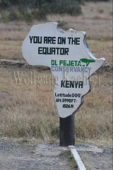10077083 (wolfgangkaehler) Tags: 2016africa african eastafrica eastafrican kenya kenyan olpejetaconservancy equator equatorline equatormarker sign