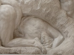 Anguish and death (seikinsou) Tags: park autumn brussels sculpture belgium belgique bruxelles relief human passion pavilion marble cinquantenaire horta jeflambeaux