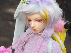 Venus (owner: Kuzle) (tarengil) Tags: trip pink winter boy nature fashion asian doll fluffy sd bjd abjd outing
