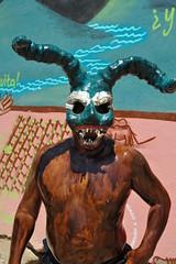 Fierce Blue Devil Mexico (Ilhuicamina) Tags: costumes mexico devils fiestas mexican masks oaxaca carnaval diablo mascaras tilcajete