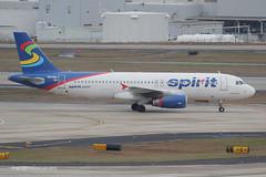 N609NK - 2011 build Airbus A320-232, taxiing at Atlanta in the new, brighter Spirit colours (egcc) Tags: atlanta spirit atl jackson airbus a320 nk 609 hartsfield spiritairlines katl a320232 4951 nks n609nk