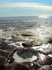. (Ana_1965_2010) Tags: sea sky naturaleza mer sol nature water stone mar agua meer playa natura ciel cielo nubes reflejo nube roca rocas mardelplata piedras oceano piedra tonalidades marargentino anawilli