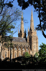 St Mary's Cathedral, Sydney, Australia (JH_1982) Tags: park new trees building tree church st wales architecture religious catholic cathedral roman south religion sydney australia landmark christian hyde nsw marys christianity australien australie archdiocese        sdney