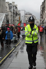 Mayday 2014 march and protest in London (Ian Press Photography) Tags: london strand square march pc day union rally protest may trafalgar police marching service unions met mayday emergency metropolitan officer protesters services protestors 999 officers 2014 marchers wonga wronga